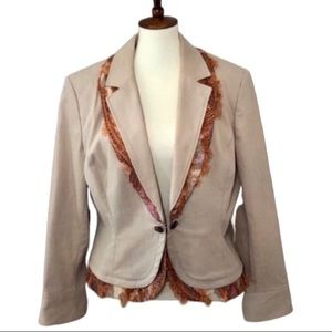 St John Sport Blazer Jacket Buff/Cream Orange